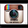 screenshot of the Instagram for Artists video featuring the Instagram logo and the webinar title